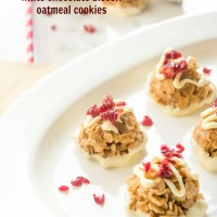 No bake biscoff cookies with white chocolate and cranberries