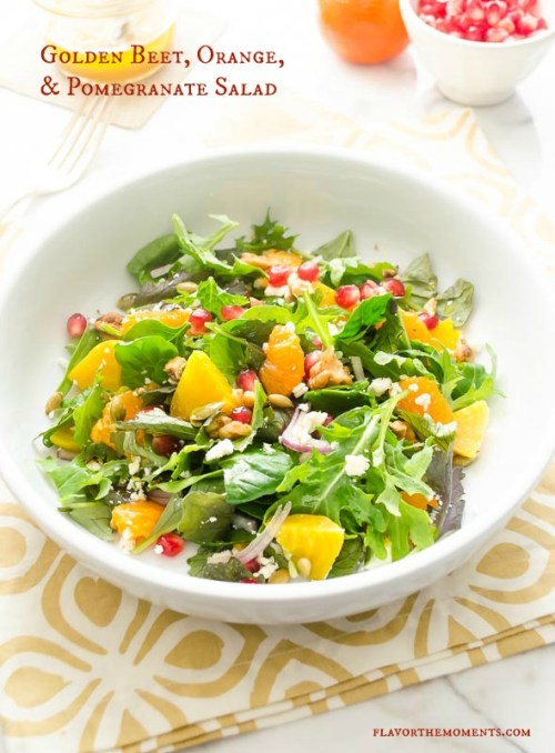 golden-beet-orange-pomegranate-salad1 | flavorthemoments.com
