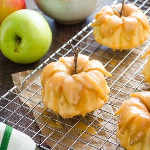 Caramel-Apple Pound Cakelettes
