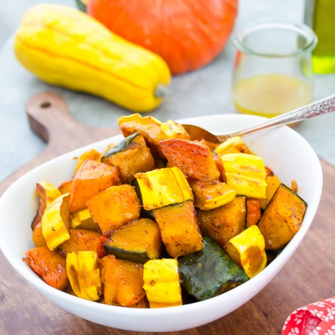 Chili Maple Roasted Winter Squash | flavorthemoments.com