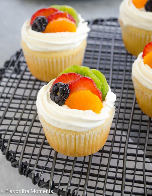 Fruit Tart Vanilla Cupcakes Flavor The Moments