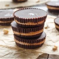 Salted Dark Chocolate Peanut Butter Cups