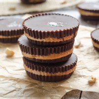 Salted Dark Chocolate Peanut Butter Cups