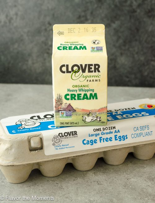 Clover Heavy Whipping Cream and Eggs