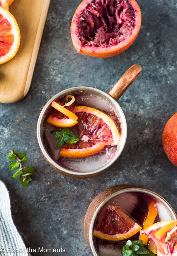 Blood Orange Moscow Mule is a crisp, refreshing cocktail with a blend of vodka, ginger beer and plenty of fresh blood orange juice!