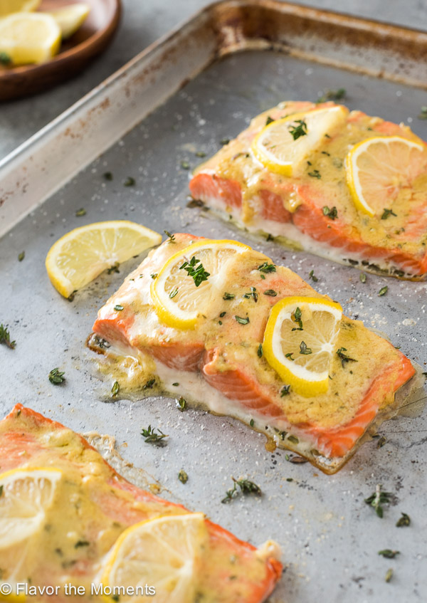 Easy Baked Lemon Dijon Salmon Flavor The Moments