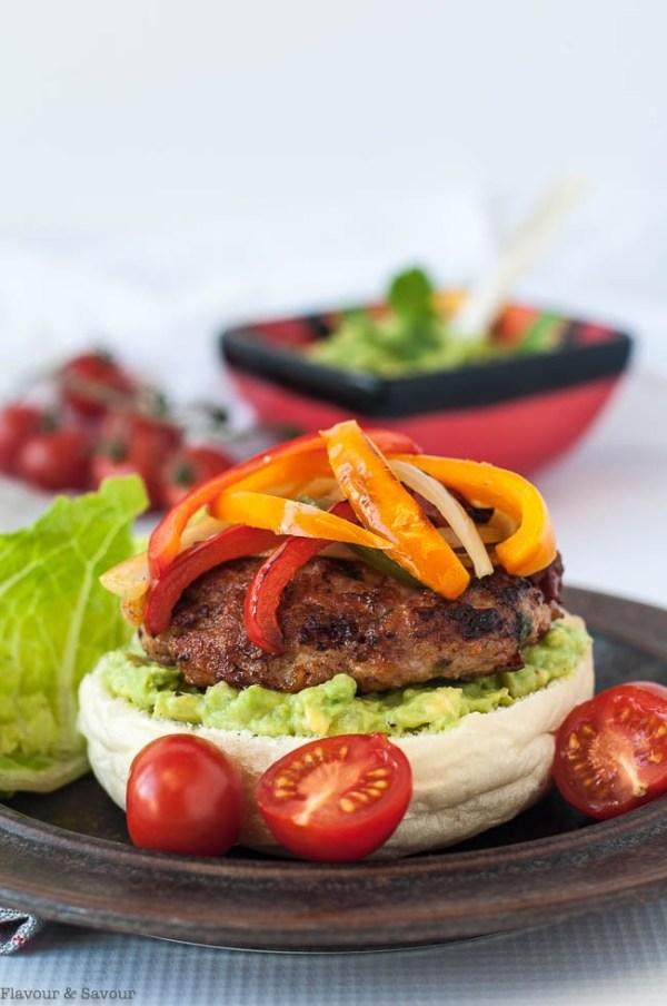 Chicken-Fajita-Burgers-with-Tomatillo-Guacamole-1
