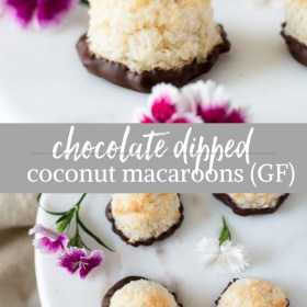 chocolate dipped coconut macaroons collage