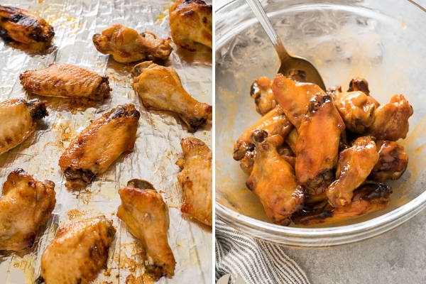 chicken-wings-broiler-process-collage