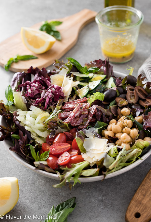 The Ultimate Italian Chopped Salad is classic chopped salad with fennel, radicchio and tossed in fresh, flavorful homemade Italian dressing!