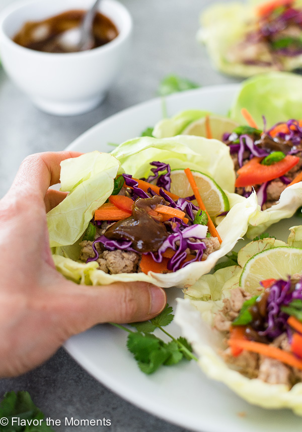 Easy Chicken Lettuce Wraps are healthy, low carb Asian chicken lettuce cups that take only a few simple ingredients and 15 minutes to prepare!