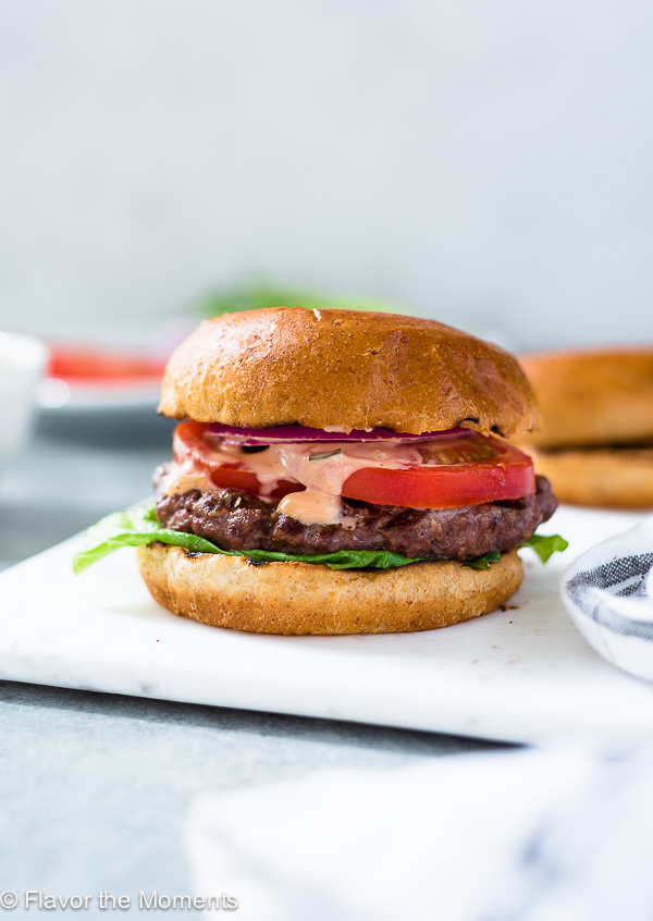 how to grill burgers with classic grilled burger photo