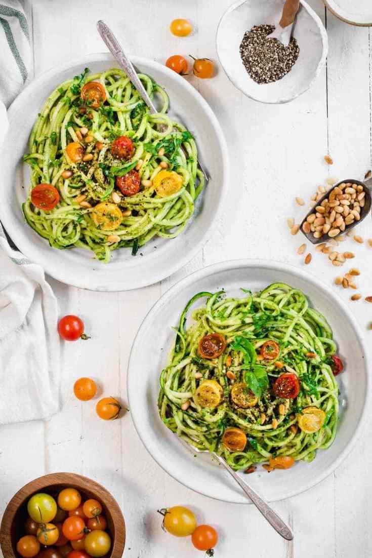 Easy Vegan and Paleo Pesto Salad
