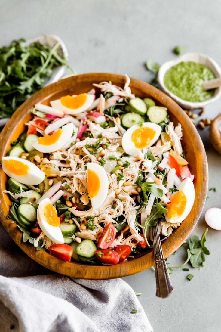 Paleo Pesto Chicken Salad (Dairy Free, Whole30)