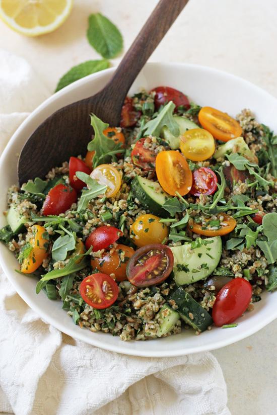 Pesto Tabbouleh Summer Salad - Cook Nourish Bliss