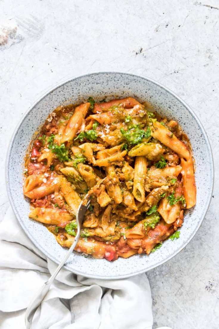 Instant Pot Pasta With Pesto And Mozzarella + Tutorial