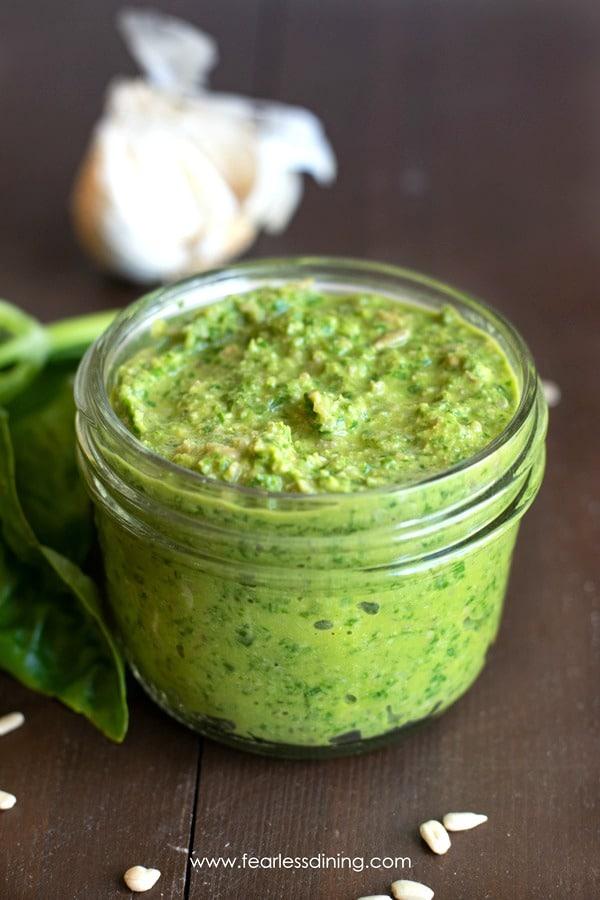 Quick and Easy Nut Free Pesto Sauce