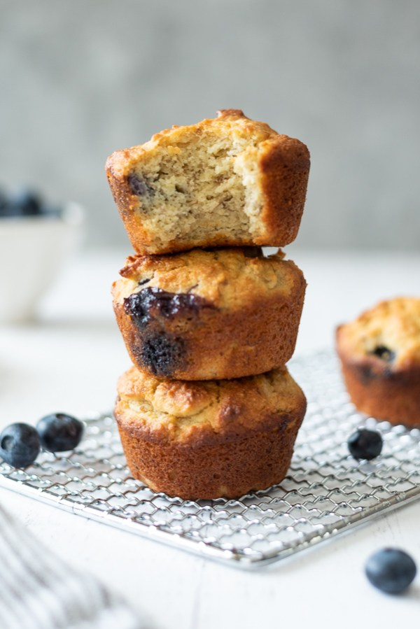 Almond Flour Blueberry Banana Muffins Flavor The Moments