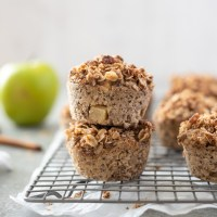 Overnight Apple Crisp Baked Oatmeal Cups
