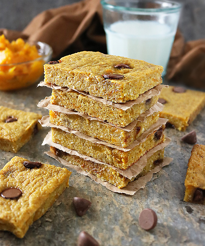 Chocolate Chip Kabocha Bars