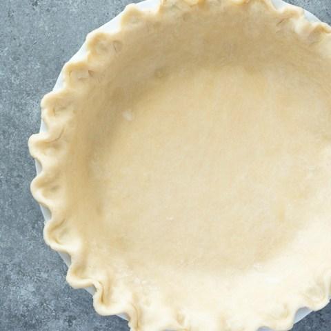 flaky pie crust overhead shot