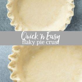 flaky pie crust collage