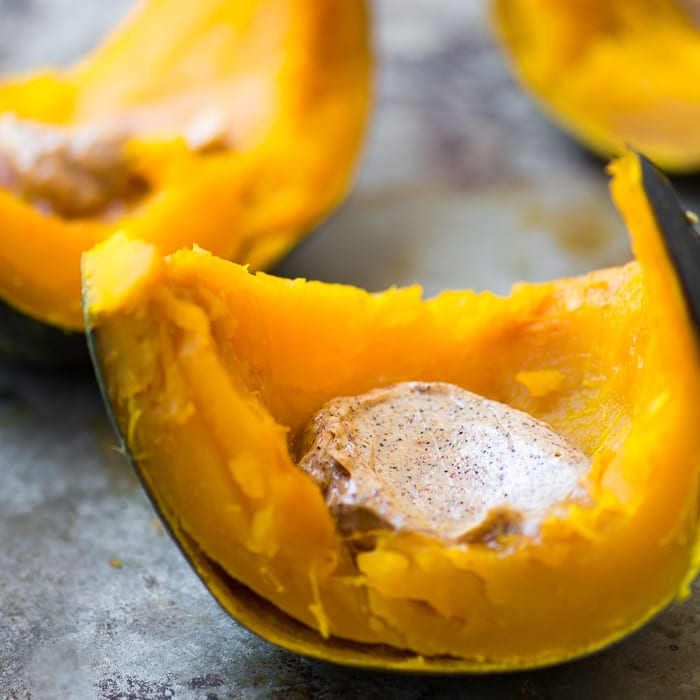 Whole Roasted Kabocha Squash with Chipotle Butter