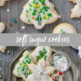 christmas sugar cookies collage