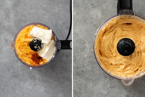 pub cheese recipe process collage