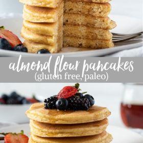 almond flour pancakes collage