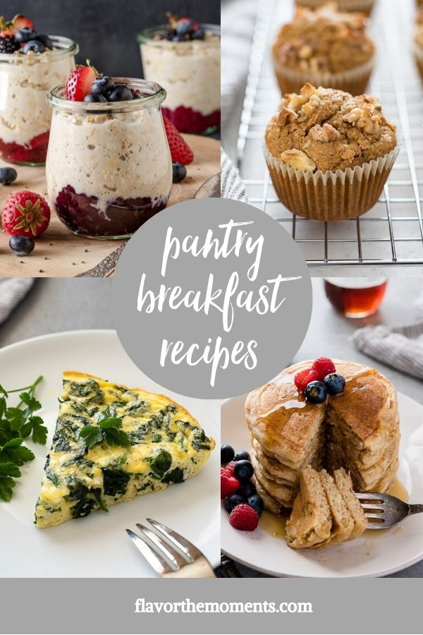 healthy pantry breakfast recipes collage