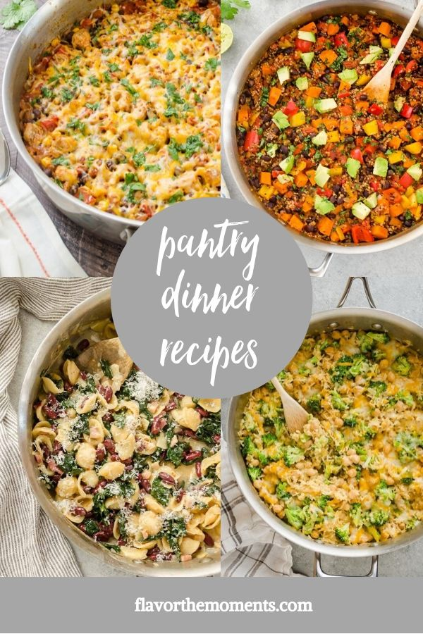 healthy pantry dinner recipes collage