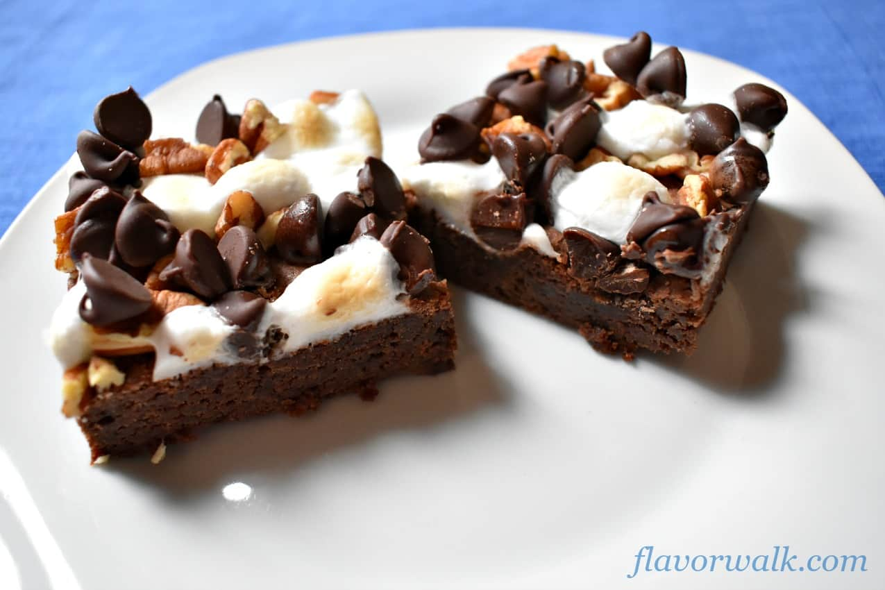rocky road gluten-free brownies, rocky road brownies, brownies