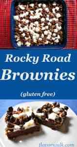 rocky road gluten-free brownies, rocky road brownies, brownies, gluten free brownies