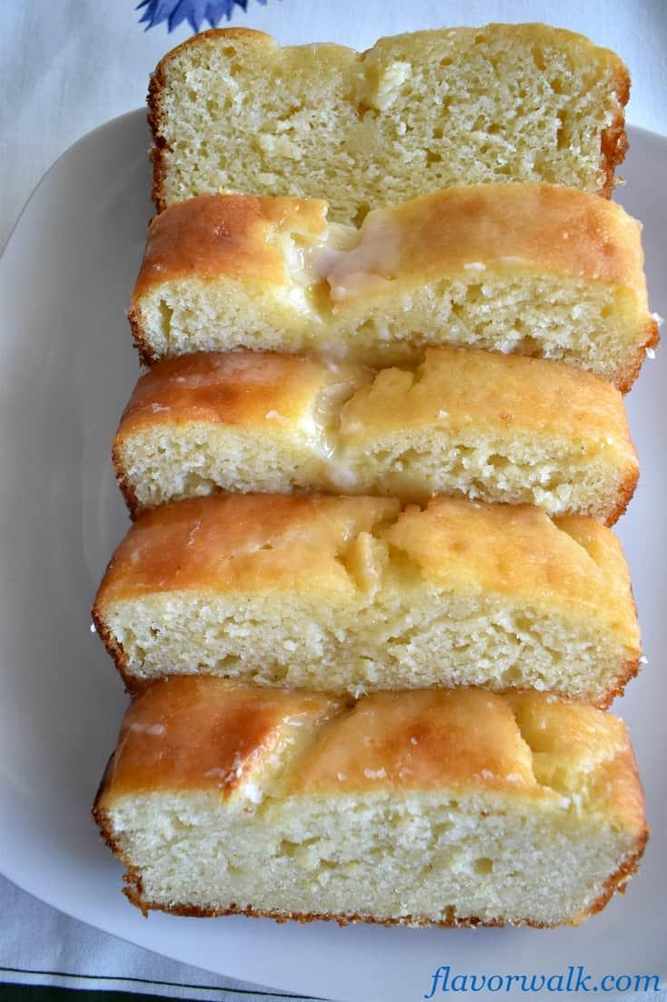 Lemon Loaf Cake with Lemon Glaze is light, moist and lemony. A delicious lemon dessert with the perfect balance of sweet and tart!