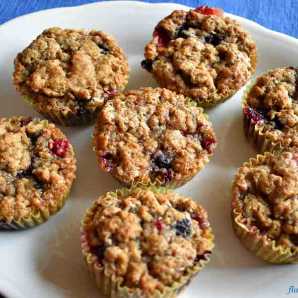 Triple Berry Gluten Free Muffins