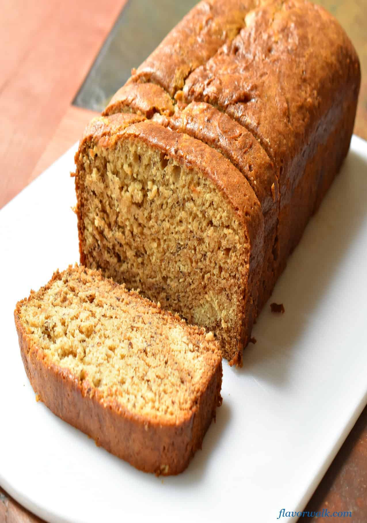 Mary's Homemade Banana Bread is tender, moist and delicious. You'd never know it's gluten free!!