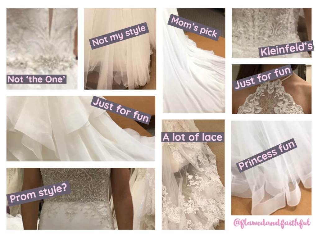 wedding dresses collage