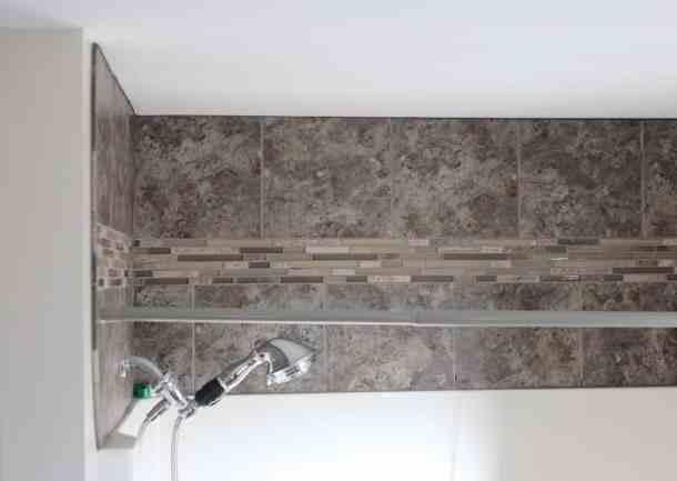 Tile Above Shower Finished