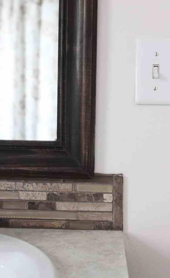 Framed Mirror Backsplash