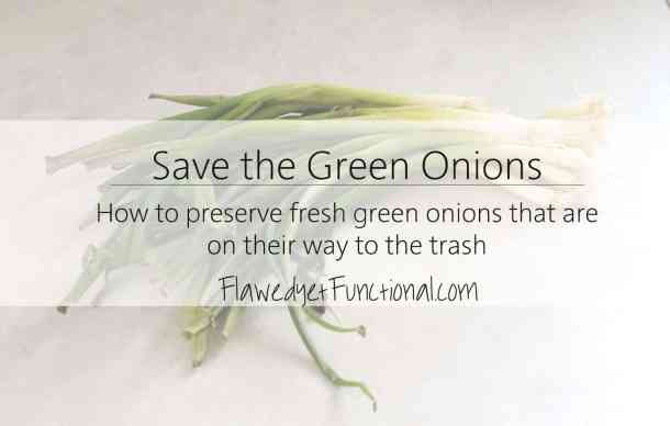Save the green onions
