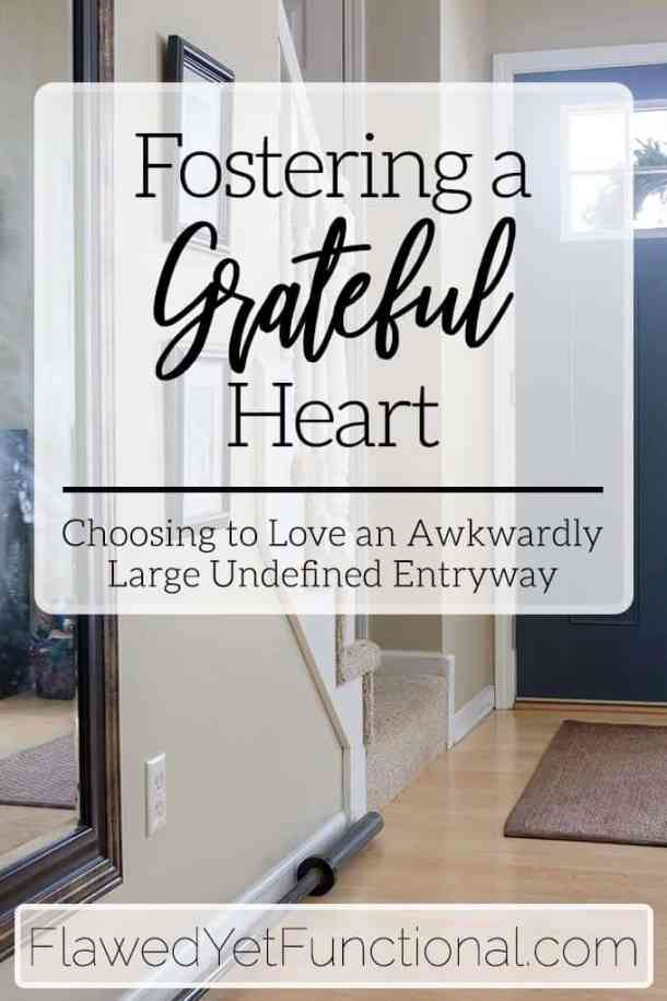 Choose gratefulness in your home