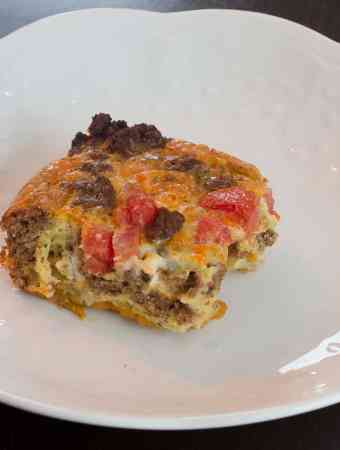 Beef Sweet Potato Egg Casserole