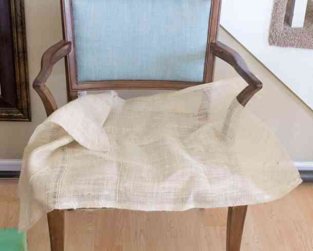 Burlap Layer Wood Side Chair