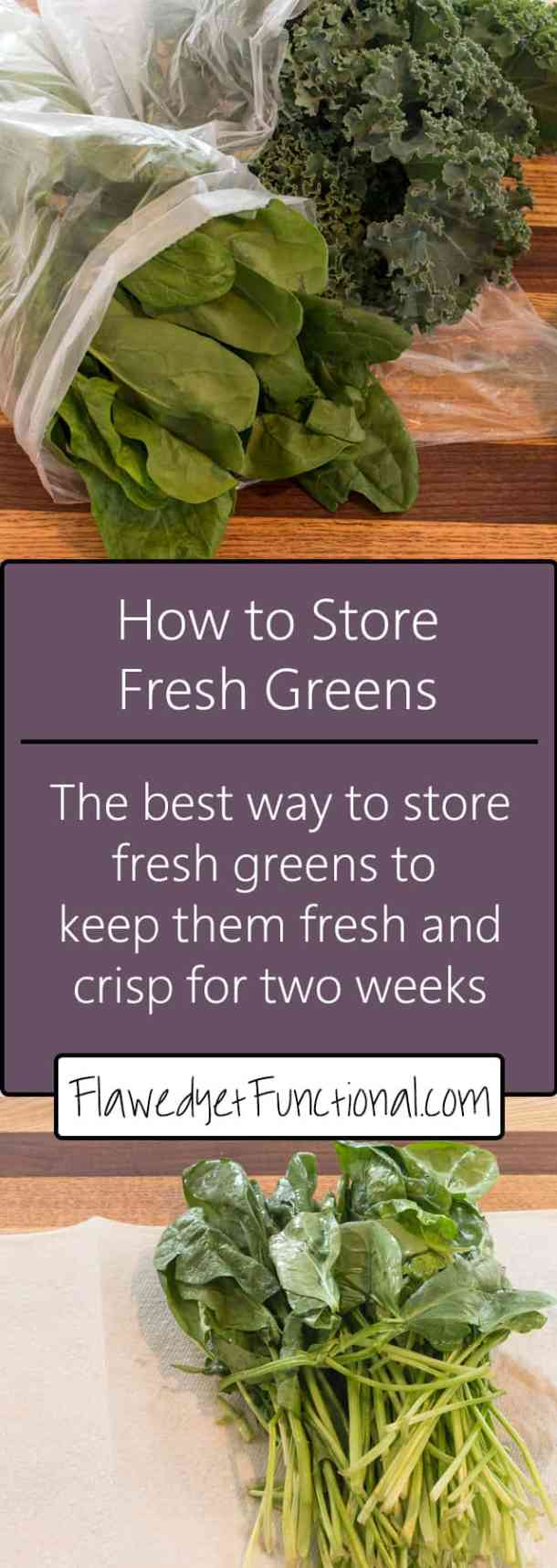 How to Store Fresh Greens