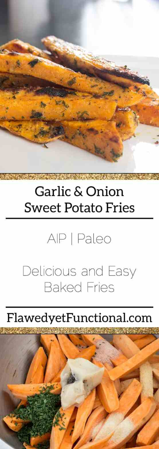 Garlic & Onion Sweet Potato Fries