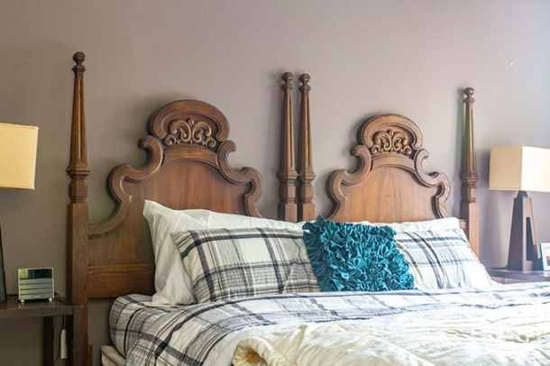 master bedroom update with hand-me-down-furniture
