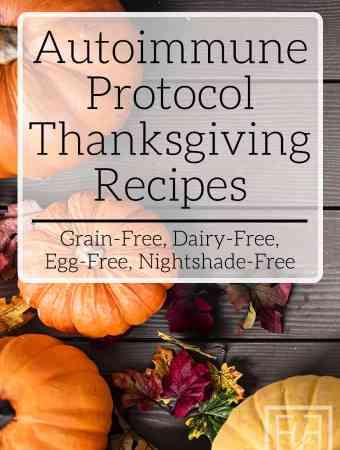 Autoimmune Protocol friendly Thanksgiving Recipes