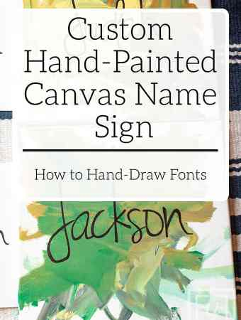Custom Hand-Painted Canvas Name Sign