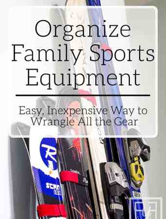 Organize Family Sports Equipment
